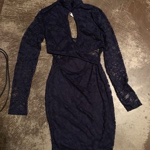 Navy blue lace dres